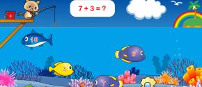 にゃんこの魚釣り 算数